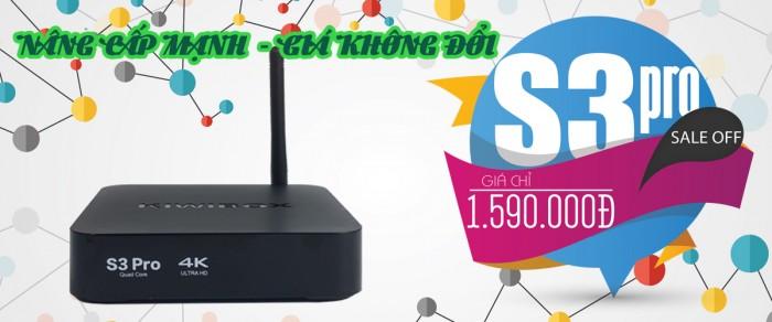 ANDROID Kiwibox S3 Pro Giảm giá còn 1350K/ bộ và khuyến mãi chuột không dây cao  cấp Kiwi S183