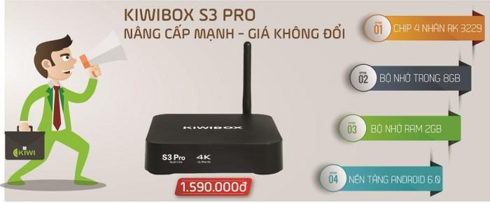 ANDROID Kiwibox S3 Pro mua tại Điện Máy Hải được Giao hàng miễn phí trên toàn quốc.