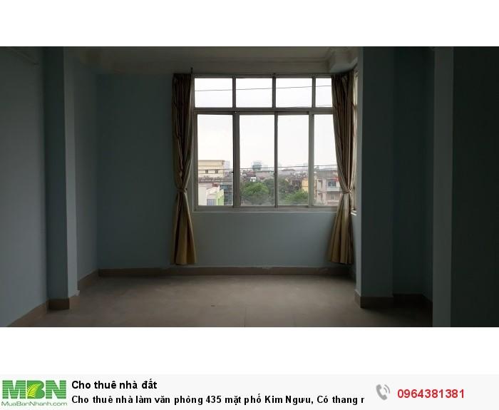 Cho thuê nhà làm văn phòng 435 mặt phố Kim Ngưu,  Có thang máy