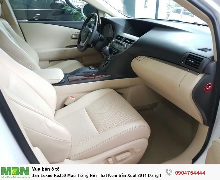 Bán Lexus Rx350 Màu Trắng Nội Thất Kem Sản Xuất 2014 Đăng Ký 2015 Xe 1 Chủ Từ Đầu