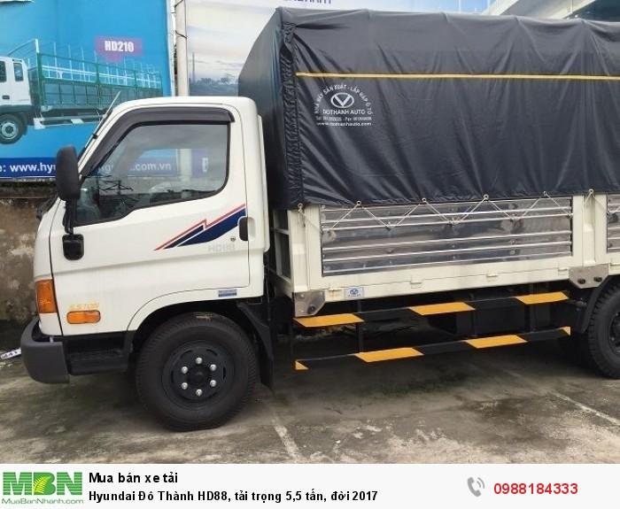 Hyundai Đô Thành HD88, tải trọng 5,5 tấn, đời 2017