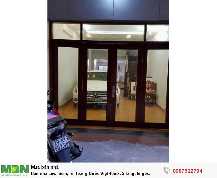 Bán nhà cực hiếm, rẻ Hoàng Quốc Việt 40m2, 5 tầng, lô góc.