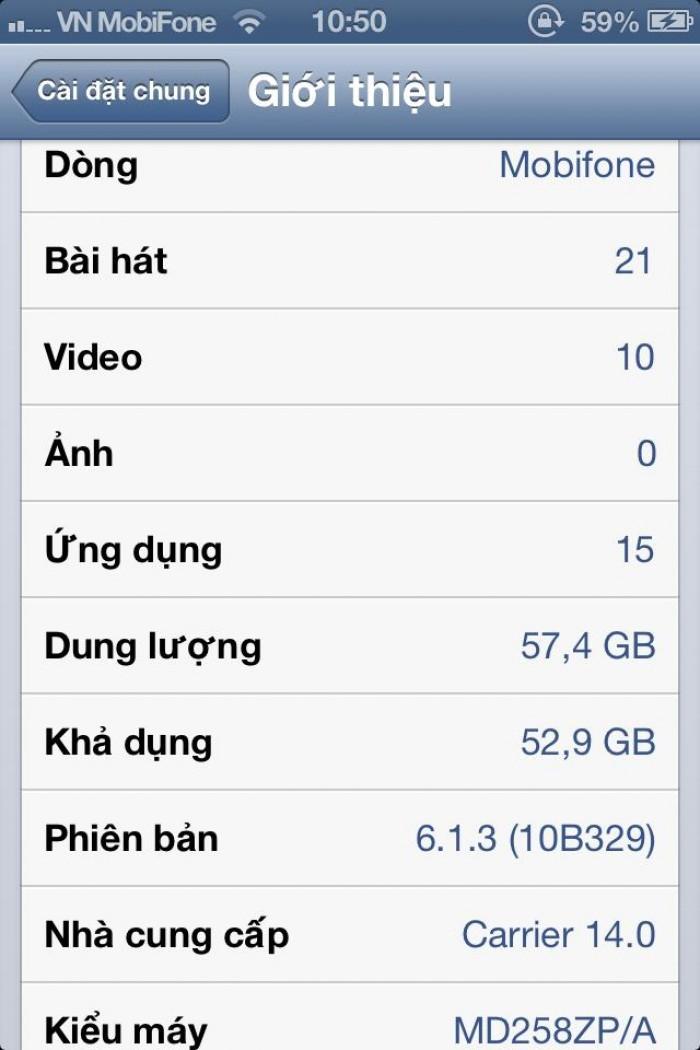 Iphone 4s quốc tế 64g ios 6.xx máy ngon đẹp zin