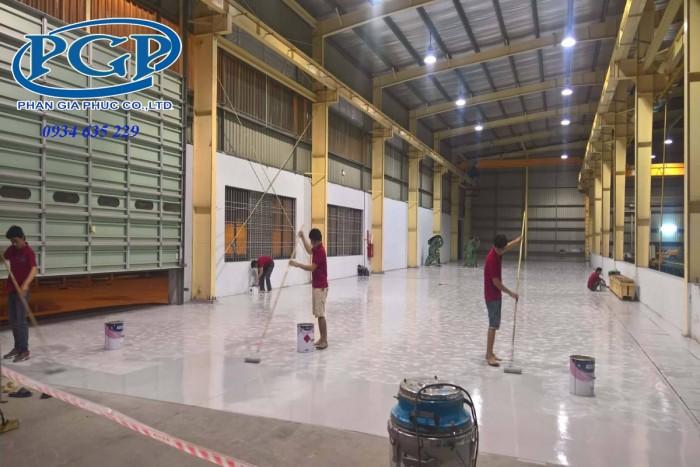 Báo giá thi công sơn Epoxy KCC sàn nhà xưởng, nền nhà xưởng