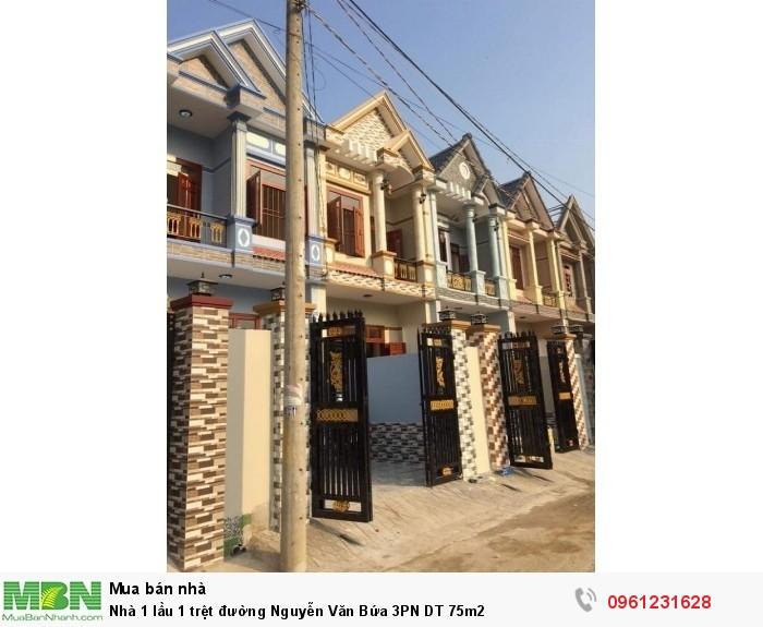 Nhà 1 lầu 1 trệt đường Nguyễn Văn Bứa 3PN DT 75m2