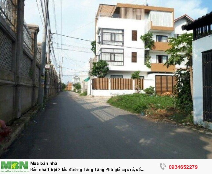 Bán nhà 1 trệt 2 lầu đường Làng Tăng Phú giá cực rẻ, sổ riêng, dân cư đông đúc