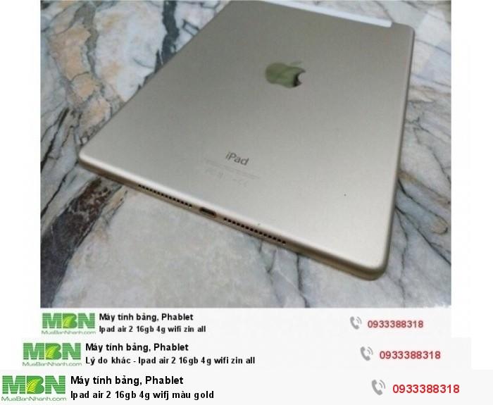 Ipad air 2 16gb 4g wifj màu gold2