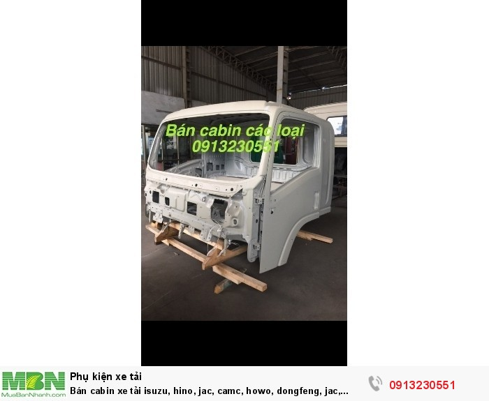 Bán cabin xe tải isuzu, hino, jac, camc, howo, dongfeng, jac, camc, cuu long, thaco ollin, forland