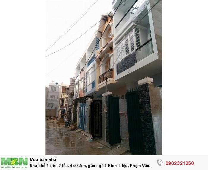 Nhà phố 1 trệt, 2 lầu, 4x23.5m, gần ngã 4 Bình Triệu, Phạm Văn Đồng, Thủ Đức