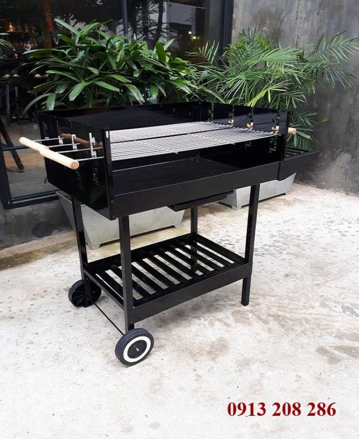 Bếp nướng than hoa khung thép dùng ngoài trời Acter Tree CK350, bếp nướng quân đội1