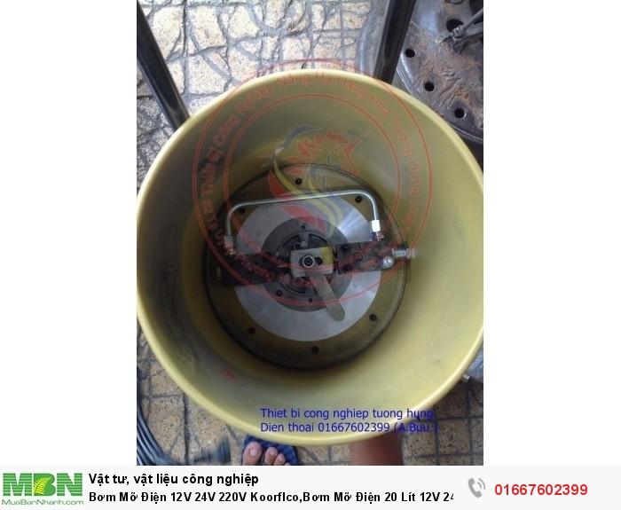Bơm Mỡ Điện 12V 24V 220V Koorflco,Bơm Mỡ Điện 20 Lít 12V 24V 220V8