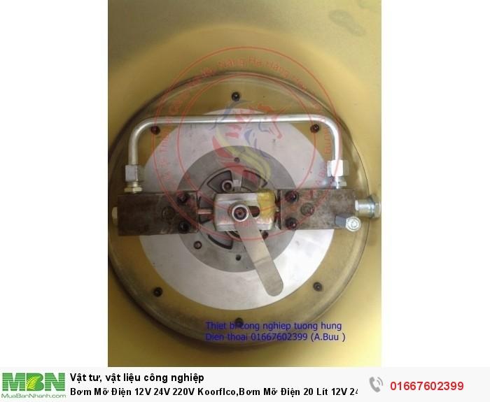 Bơm Mỡ Điện 12V 24V 220V Koorflco,Bơm Mỡ Điện 20 Lít 12V 24V 220V7