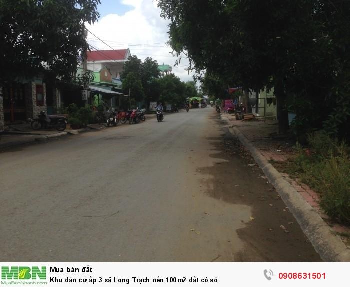 Khu dân cư ấp 3 xã Long Trạch nền 100m2 đất có sổ