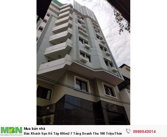 Bán Khách Sạn Hồ Tây 406m2 7 Tầng Doanh Thu 100 Triệu/Tháng