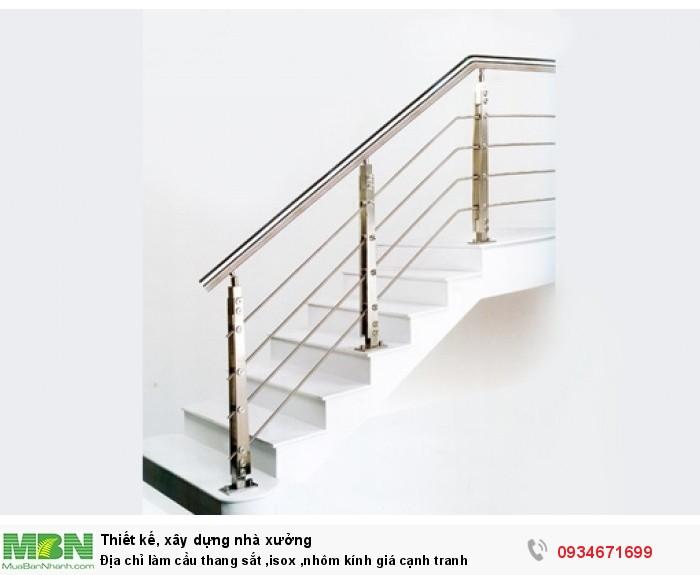 Địa chỉ làm cầu thang sắt, inox, nhôm kính giá cạnh tranh
