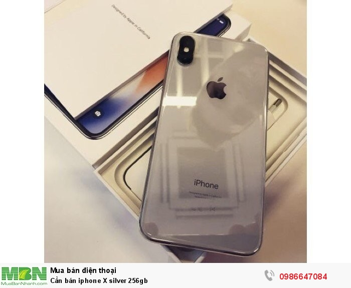 Cần bán iphone X silver 256gb