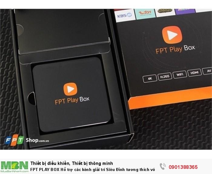 FPT Play là 1 thiết bị nhỏ dùng để kết nối với Tivi phát được 150 kênh truyền hình, xem phim trực tuyến với kho phim khổng lồ, xem bóng đá Ngoại Hạng Anh mùa giải 2017-2018