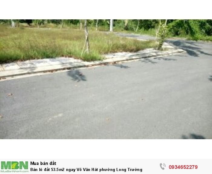Bán lô đất 53.5m2 ngay Võ Văn Hát phường Long Trường