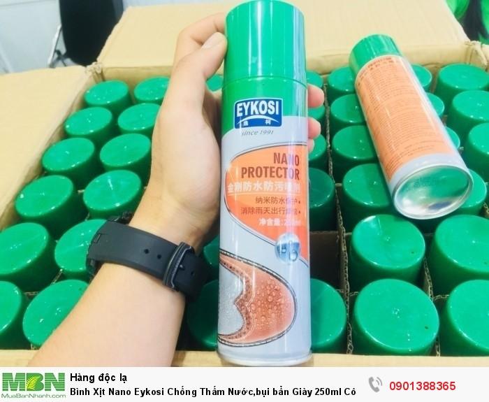 Bình Xịt Nano Eykosi Chống Thấm Nước,bụi bẩn Giày 250ml Công nghệ Nano không độc hại, MSN388080