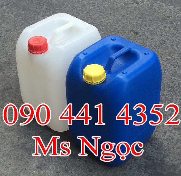 Bán can nhựa 20 lít, 30 lít đựng hóa chất. Can nhựa 20 lít giá rẻ