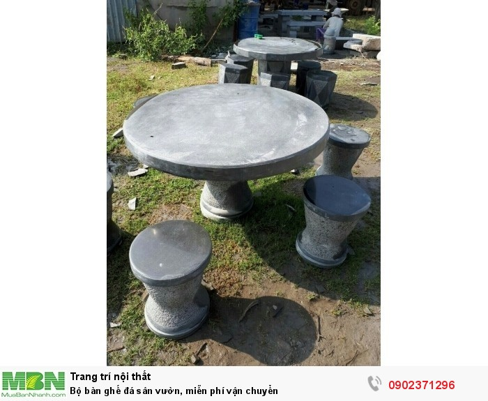 Bộ bàn ghế đá sân vườn, miễn phí vận chuyển