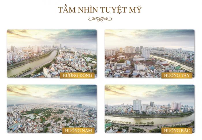Bán căn 2PN, Grand Riverside, tầng cao, view sông Bến Nghé, DT 79.4m2