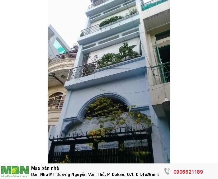 Bán Nhà MT đường Nguyễn Văn Thủ, P. Dakao, Q.1, DT:4x26m, 3 lầu, Giá 24 tỷ