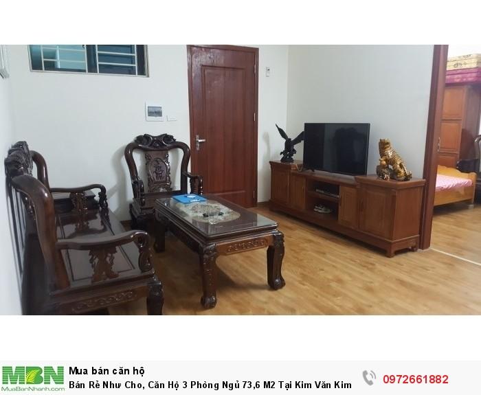 Bán Rẻ Như Cho, Căn Hộ 3 Phòng Ngủ 73,6 M2 Tại Kim Văn Kim Lũ, Tầng Trung