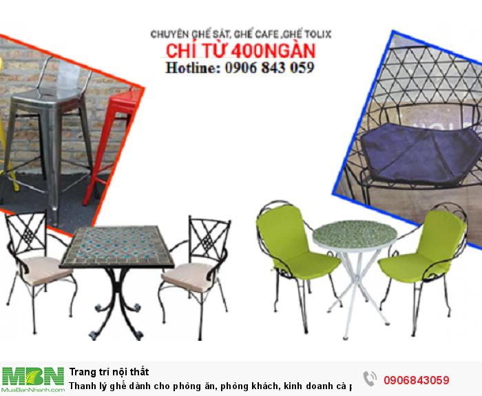 Thanh lý ghế dành cho phòng ăn, phòng khách, kinh doanh cà phê giá rẻ0