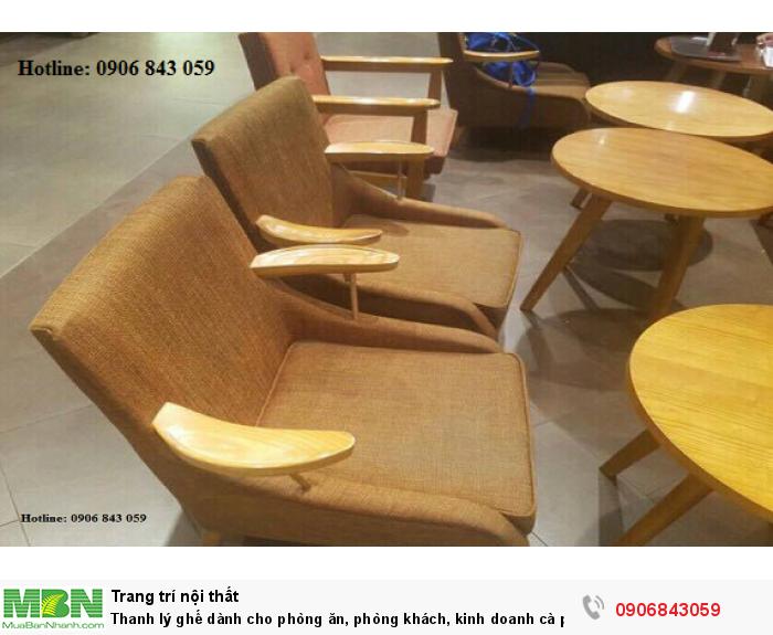 Thanh lý ghế dành cho phòng ăn, phòng khách, kinh doanh cà phê giá rẻ3