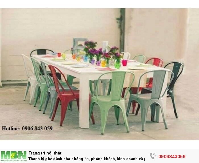 Thanh lý ghế dành cho phòng ăn, phòng khách, kinh doanh cà phê giá rẻ4