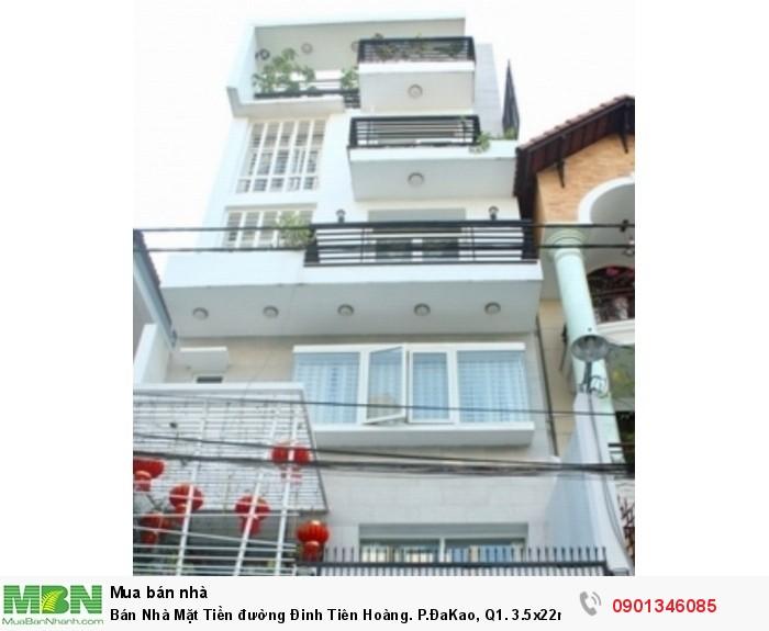 Bán Nhà Mặt Tiền đường Đinh Tiên Hoàng. P.ĐaKao, Q1. 3.5x22m