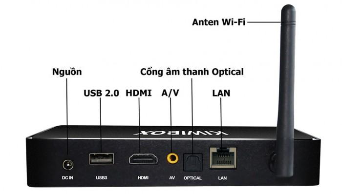 Android Kiwibox S8 Pro Kết nối: Bluetooth 4.1, Wireless 802.11 b/g/n, LAN 10/100M/1000