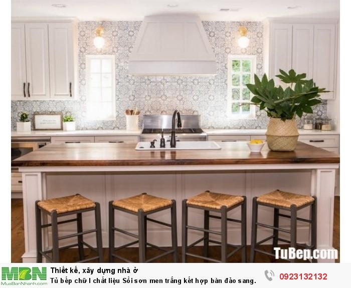 Tủ bếp chữ I chất liệu Sồi sơn men trắng kết hợp bàn đảo sang trọng – TBN0045 + Chất liệu và xuất xứ: Chất liệu Sồi sơn men  + Màu sắc và đặc tính: trắng  + Hình dạng kích thước:Tủ bếp được thiết kế dạng chữ I theo phong cách bán cổ điển + Loại nhà và diện tích đặt bếp: Căn hộ gia đình, không gian phòng khoảng 30m2 + Dịch vụ cộng thêm: thiết kế miễn phí, theo dõi tiến độ online, tem chứng nhận, sms theo dõi bảo hành, bảo trì 24/7