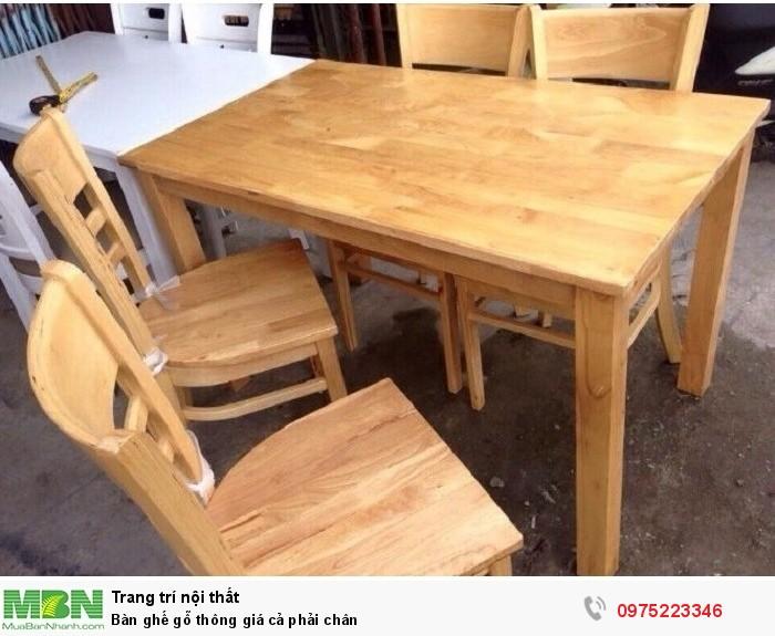 Bàn ghế gỗ thông giá cả phải chân..1