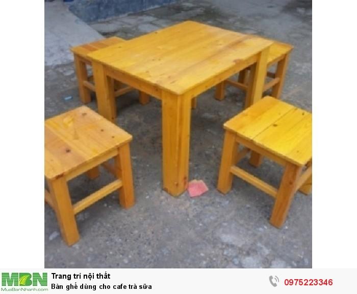 Bàn ghế dùng cho cafe trà sữa..ăn vật2