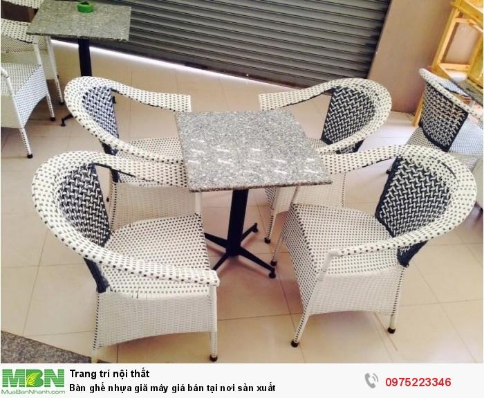 Bàn ghế nhựa giã mây giá bán tại nơi sản xuất1