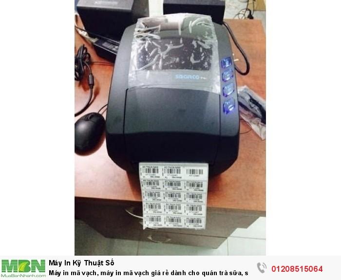 Máy in mã vạch, máy in mã vạch giá rẻ dành cho quán trà sữa, shop siêu thị