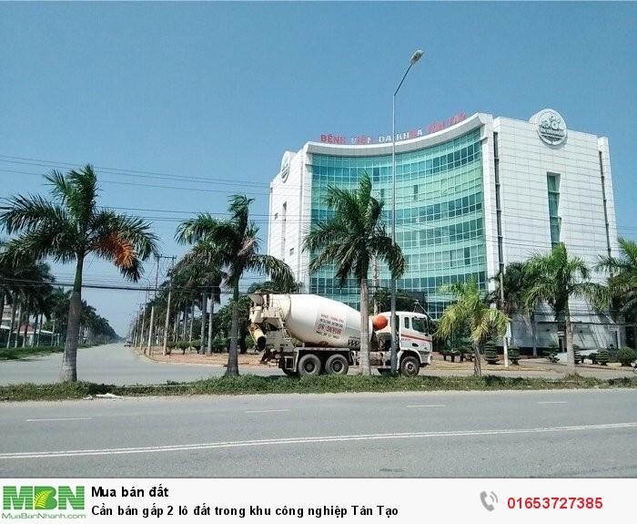 Cần bán gấp 2 lô đất trong khu công nghiệp Tân Tạo