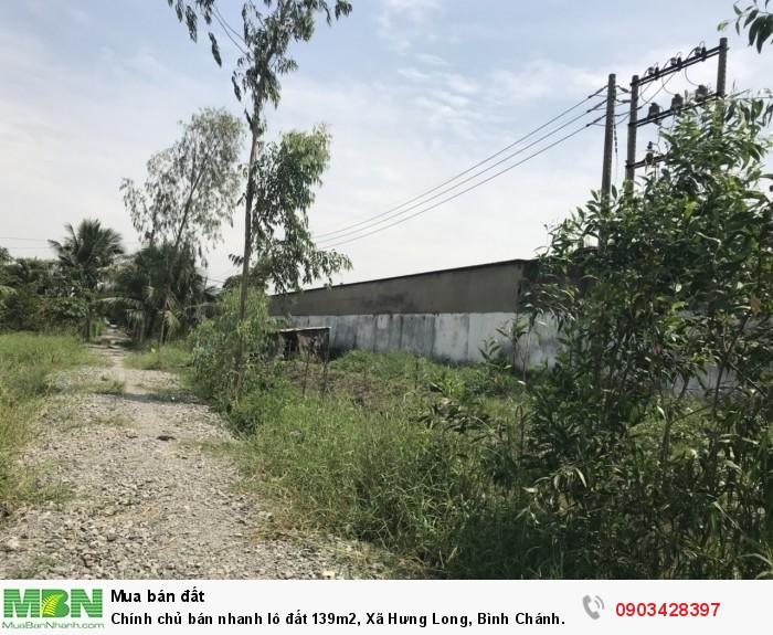 Chính chủ bán nhanh lô đất 139m2, Xã Hưng Long, Bình Chánh.