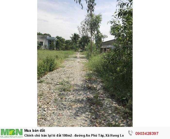Chính chủ bán lại lô đất 100m2- đường An Phú Tây, Xã Hưng Long, bình Chánh