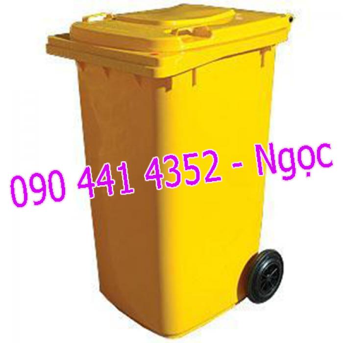 Bán thùng rác nhựa 120 lít, 240 lít. Thùng rác công nghiệp 120 lít, 240 lít