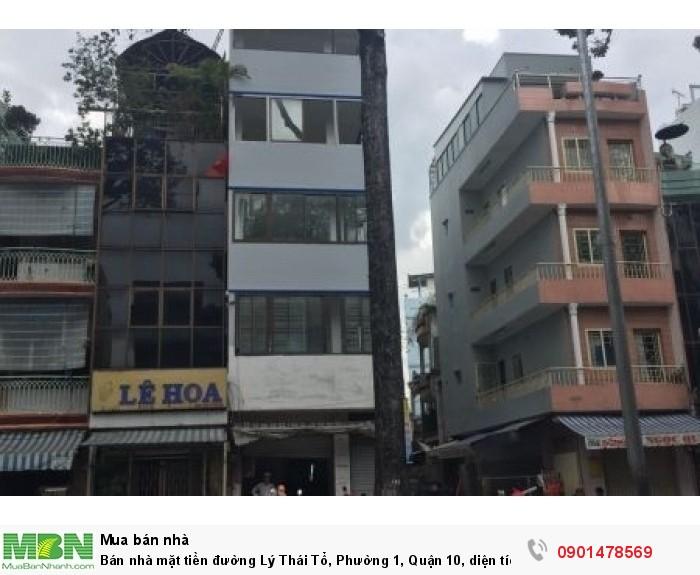 Bán nhà mặt tiền đường Lý Thái Tổ, Phường 1, Quận 10, diện tích 4x21m, trệt, 3 lầu xây đẹp.