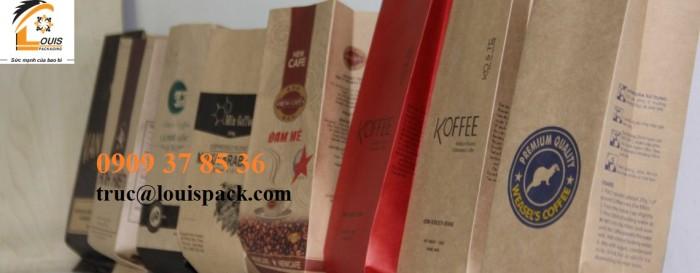 Bao bì màng ghép: Từ 100gr cho đến 2kg cà phê rang xay, hòa tan..