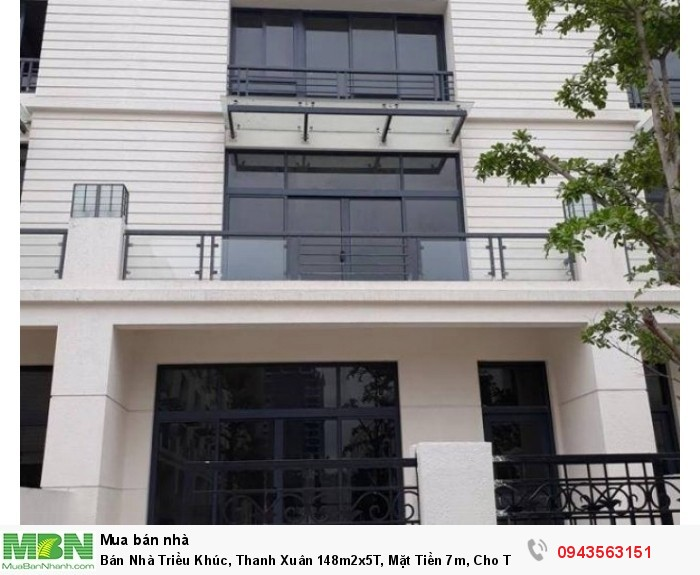 Bán Nhà Triều Khúc, Thanh Xuân 148m2x5T, Mặt Tiền 7m, Cho Thuê