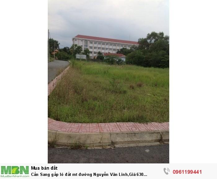Cần Sang gấp lô đất mt đường Nguyễn Văn Linh,Giá 630 triệu/88m2,sổ riêng