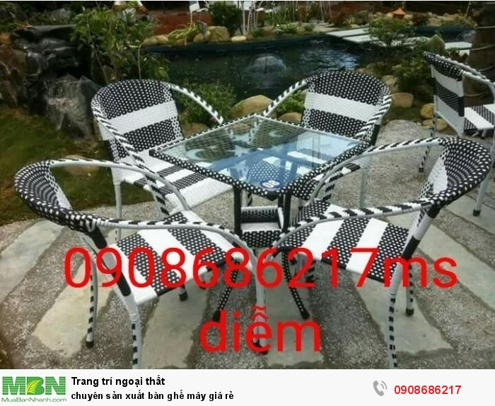 Chuyên sản xuất bàn ghế mây giá rẻ0