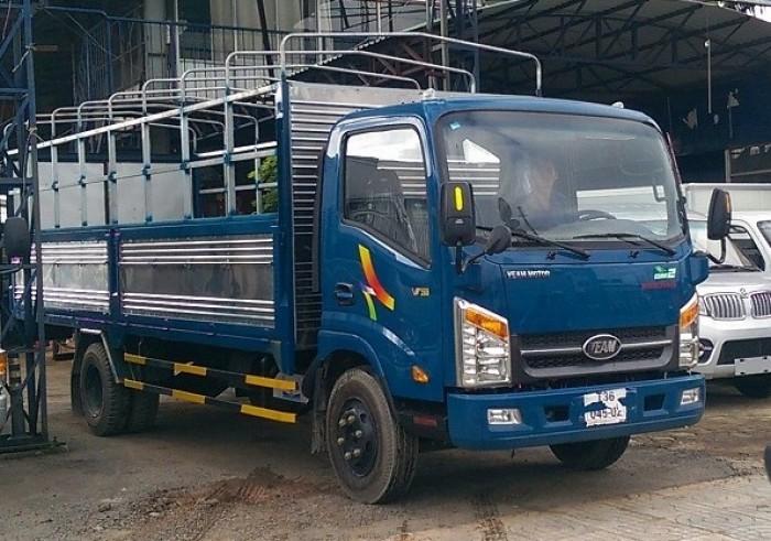 Cần bán Xe tải veam VT340s thùng kín, thùng dài 6m05