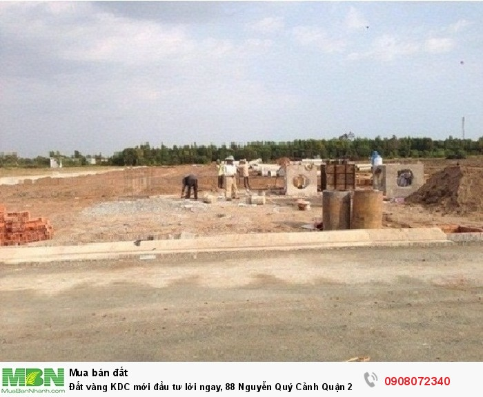 Đất vàng KDC mới đầu tư lời ngay, 88 Nguyễn Quý Cảnh Quận 2,có sổ riêng