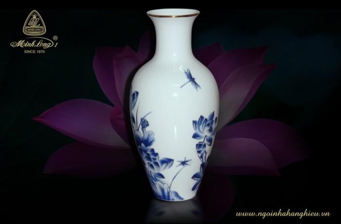 Bình hoa 40cm Sen Vàng 114054345 gốm sứ Minh Long I